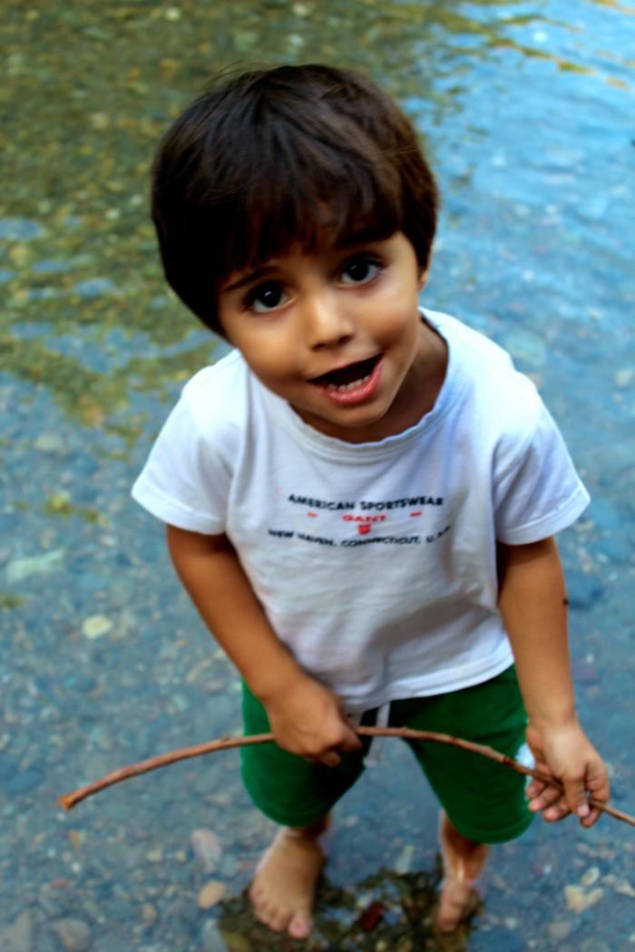 Un día de senderismo con los niños en Las Canales 15