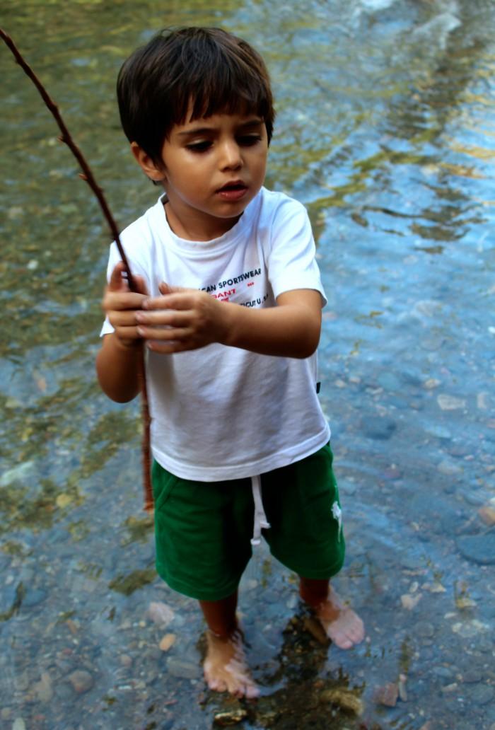 Un día de senderismo con los niños en Las Canales 11