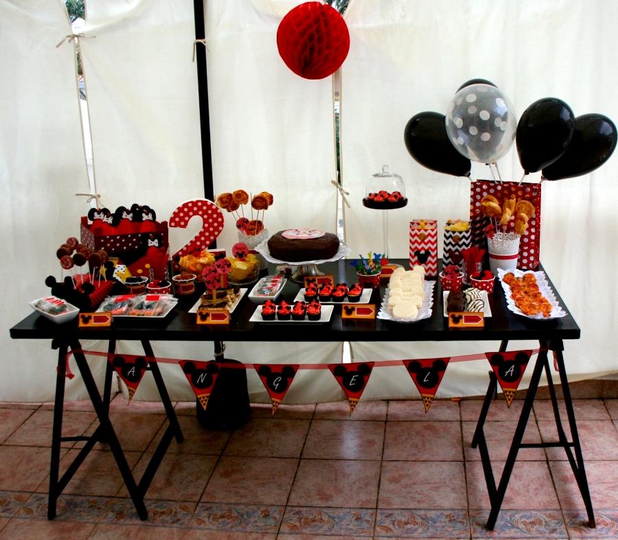 mesa dulce fiesta minni mouse cumpleaños infantil