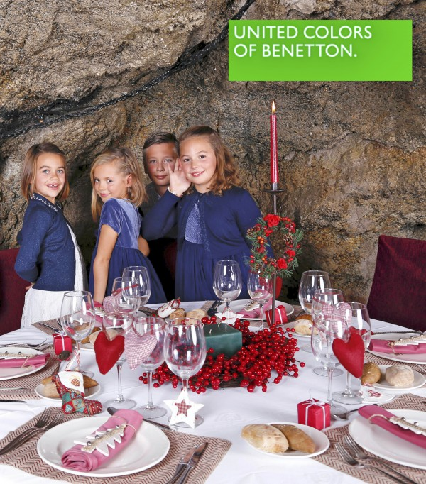 cena navideña para el 2015-2016 moda infantil benetton ejido