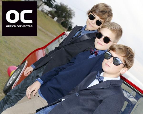 moda infantil para niños y niñas con gafas de sol a la última