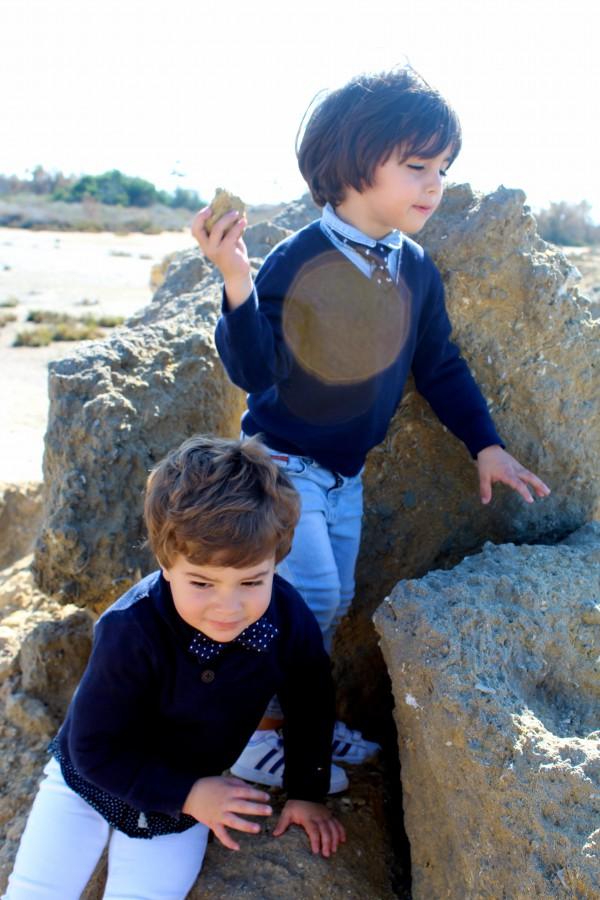moda infantil pequeños denim