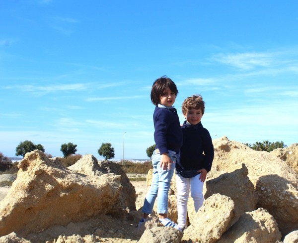 moda niños denim azul vaqueros lavados