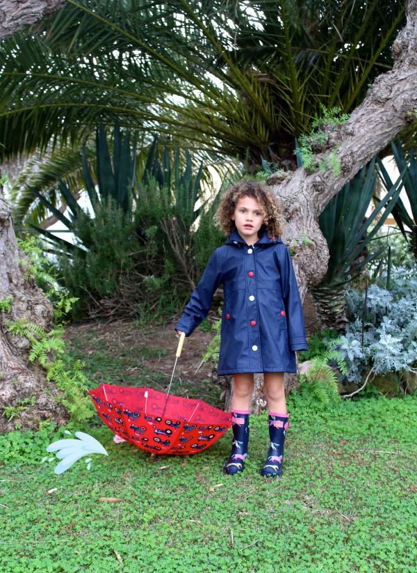 chubasqueros moda infantil almería azul y rojo