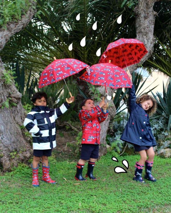 chubasqueros a la moda infantil