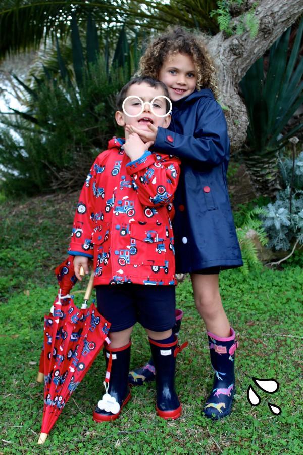 chubasqueros super fashion para los más peques a la moda infantil