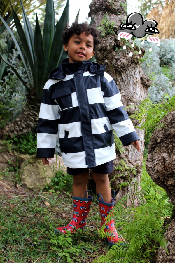 dia lluvioso perfecto con botas y chubasquero a juego moda infantil almeria