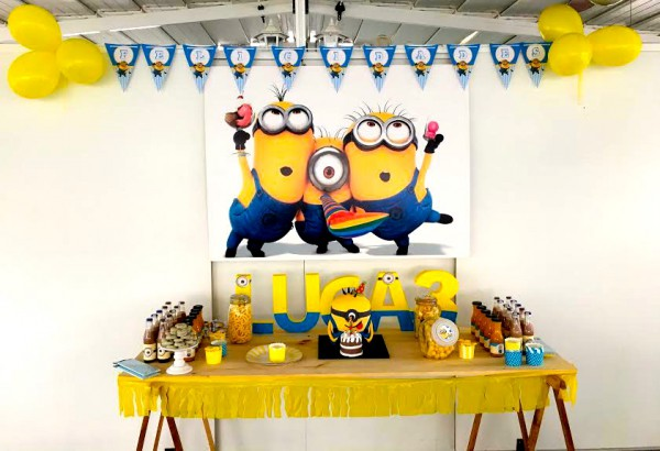 fiesta cumpleaños minions
