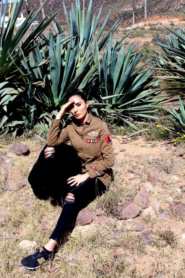 militar look verde moda infantil almeria