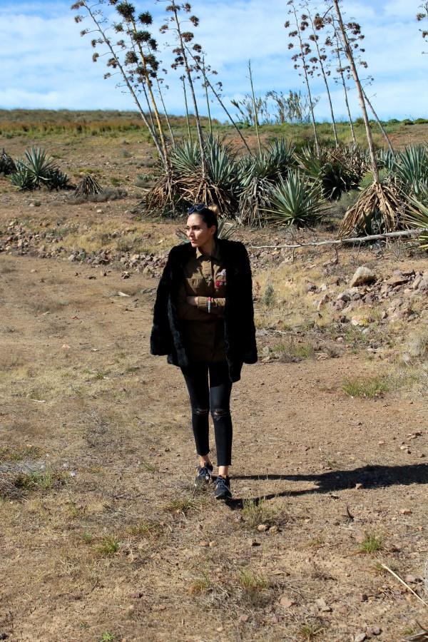 look militar verde y negro moda infantil almeria mamá trendy