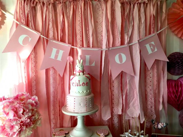 mesa baby shower rosa moda infantil almeria