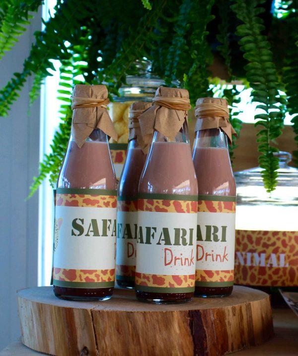 botellas personalizadas totalmente artesanal cumpleaños safari moda infantil almeria