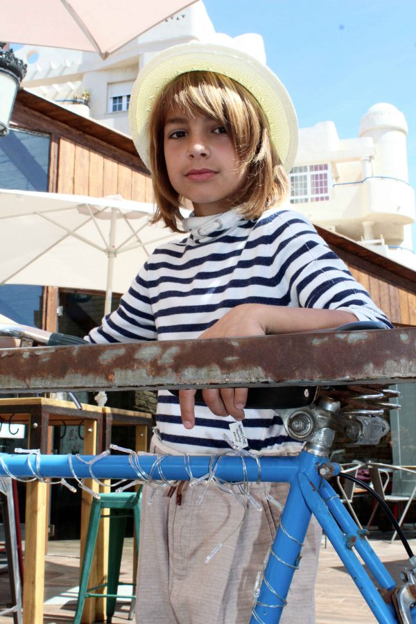 moda infantil almeria marinera azul y beige chic