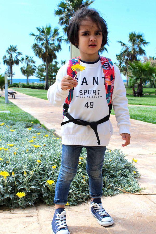 niño casual sport con sudadera gant estilo hipster moda infantil almería