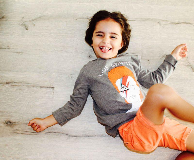 aire retro moda infantil almería camiseta de david bowie