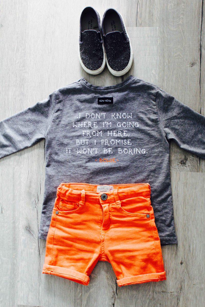 moda infantil almería aire retro camiseta de david bowie en gris lo último para verano 2016