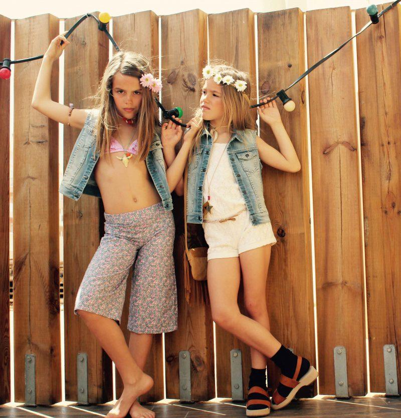moda infantil almería con looks muy hippies chic para niños