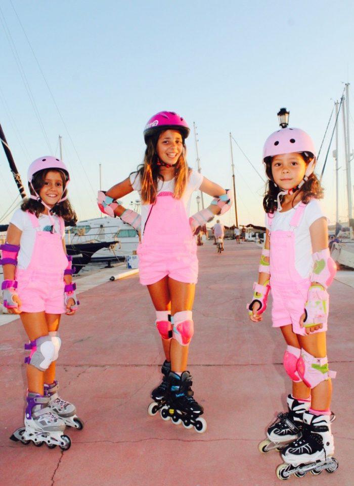 moda infantil looks rosas