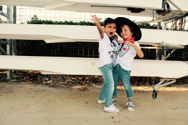 camisetas aire retro blancas moda infantil lamería