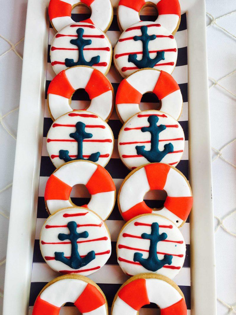 salvavidas moda infantil para mesa dulce náutica