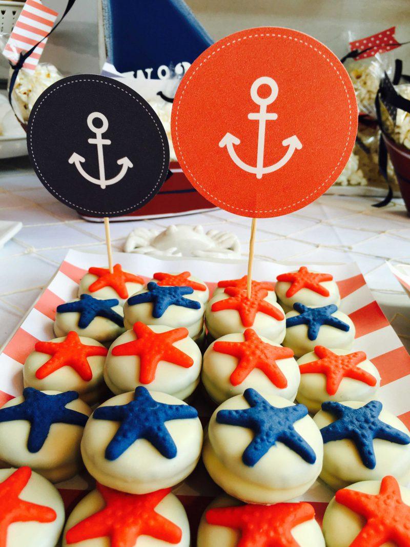 galletas especales con estrellas rojas y azules moda infantil almería náutica