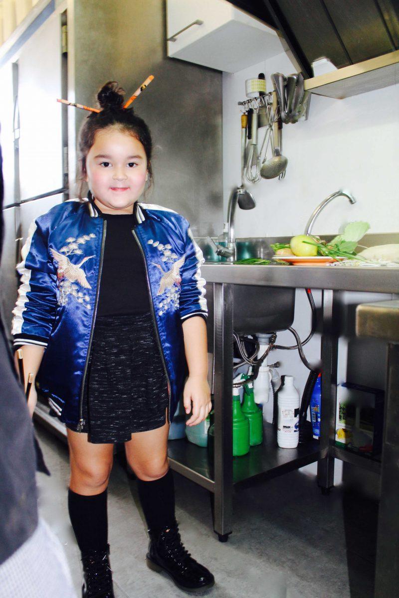 moda infantil presenta para nueva temporada bomber niña